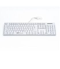 Клавиатура TKL-105-GCQ-IP68-KGEH-WHITE-USB-US/CYR (KL27201)